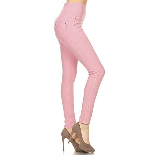 ea3cf28a55e Leggings Depot Premium Quality Jeggings Regular and Plus Soft Cotton Blend  Stretch Jean Leggings Pants w