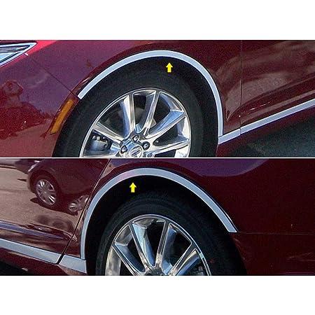 Luxury FX Chrome Stainless Fender Trim for 2013-2016 MKZ 4p Long