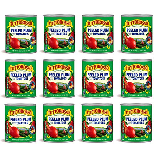 Tuttorosso Peeled Plum Tomatoes, 28oz Can (Pack of 12)