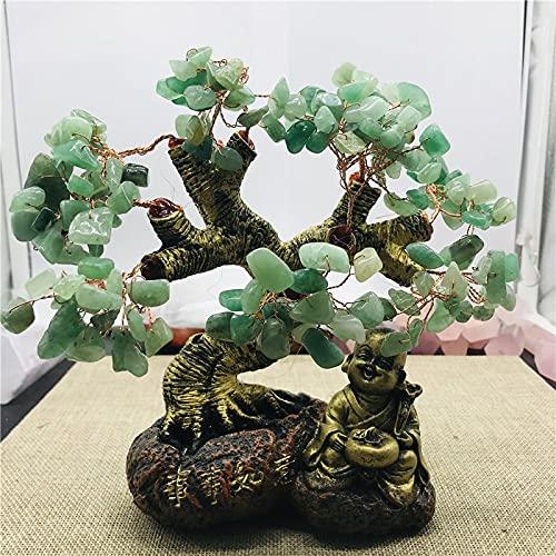YUXIwang Pulsera Tree Lucky !!! Natural East Forest Jade Crystal Gem Tree Aura