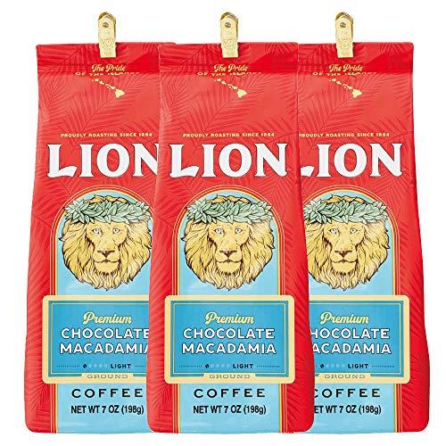 ライオンコーヒー プレミアムチョコマカダミア 198g(粉) (3個)