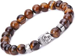 Unisexe Tibétain Obsidian Stone Bracelet Bouddhiste Mantra synthétique Bracelet lucky cadeaux
