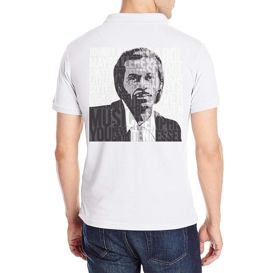誤解する溶融偏心メンズ ポロシャツ Polo 半袖 チャックベリー Chuck Berry Tシャツ 夏服 ボタンダウン T-Shirt ベースボールウェア カジュアル ゆったり 通気性 薄手 ファッション 丸襟