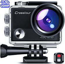 Crosstour CT9100 4K 20MP Action Camera with WiFi EIS LDC Remote Control Sports Camera 40M..