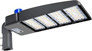 320W LED Parking Lot Light with Photocell 39000LM LED Shoebox Pole Lights Fixture 1000W HID/HPS Replacement 5700K IP65 AC 100-277V DLC UL Listed Outdoor Area Street