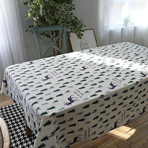 BiuTeFang tafelkleed, katoen, groen, kleine bomen, moderne eenvoudige frisse tafelkleden, tafelkleden, koffie, tafelkleden