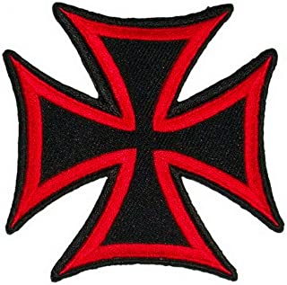 Red Cross Christian Jesus Logo Chopper Lady Rider Biker Punk Rock Heavy Metal Tatoo Patch Sew Iron on Embroidered Sign Badge Costume Clothing