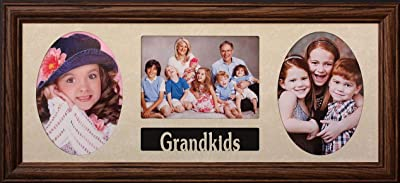 """PersonalizedbyJoyceBoyce.com 8x20 - Grandkids Photo Picture Collage Frame ~ Holds 3-5""""x7"""" Pictures/Photos - Grandparents Gift (Walnut)"""