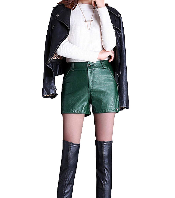 秋と冬のレザーショーツの女性のハイウエストは薄いカジュアルな野生だった2018ストレートパッケージヒップPUレザーパンツレギンスブーツのズボンの潮