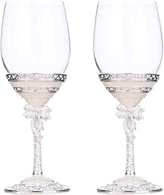 Wine Glasses, White Wine Glasses Set Of 2 Beautifully Crafted, Unique Gift for Men Or Women, Birthdays, Anniversaries, Wedding (Color : B)