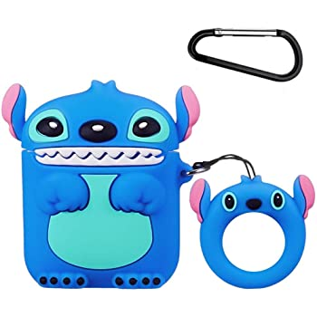 3D Cartoon Funny Cool Animals Brown Bear Shockproof Full Protection Soft Silicone Charging Case Cover Skin with Keychain for Airpods 1/&2 Megantree Cute Airpods Case Airpods 2 Case
