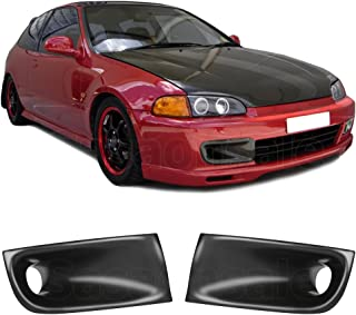 GT-Speed made for 1992-1995 Honda Civic 2dr 3dr Coupe Hatchback JS Style Front PU Bumper Caliper Air Duct PAIR