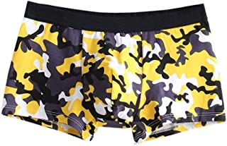 HaiDean Men's Boxer Shorts Mens Under Modern Casual Waist Sheer Shorts Print Underpants Pouch Soft Cotton Briefs Panties
