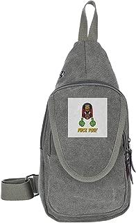 Judge Dredd Fuck You Traveling Chest Bags For Men&Women Multipurpose Casual Daypack Hiking Shoulder Bag