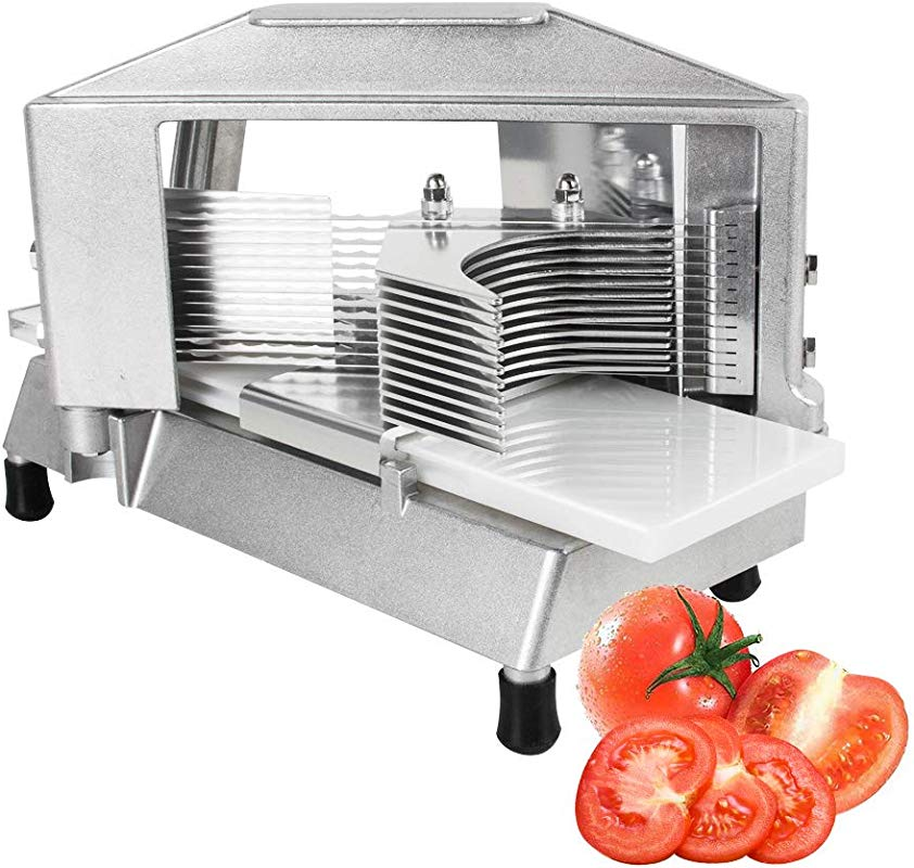 Commercial Tomatoes Slicer 3 16 Inch Heavy Duty Cutter Industrial Cutting Machine With Built In Cutting Board For Restaurant Home Use