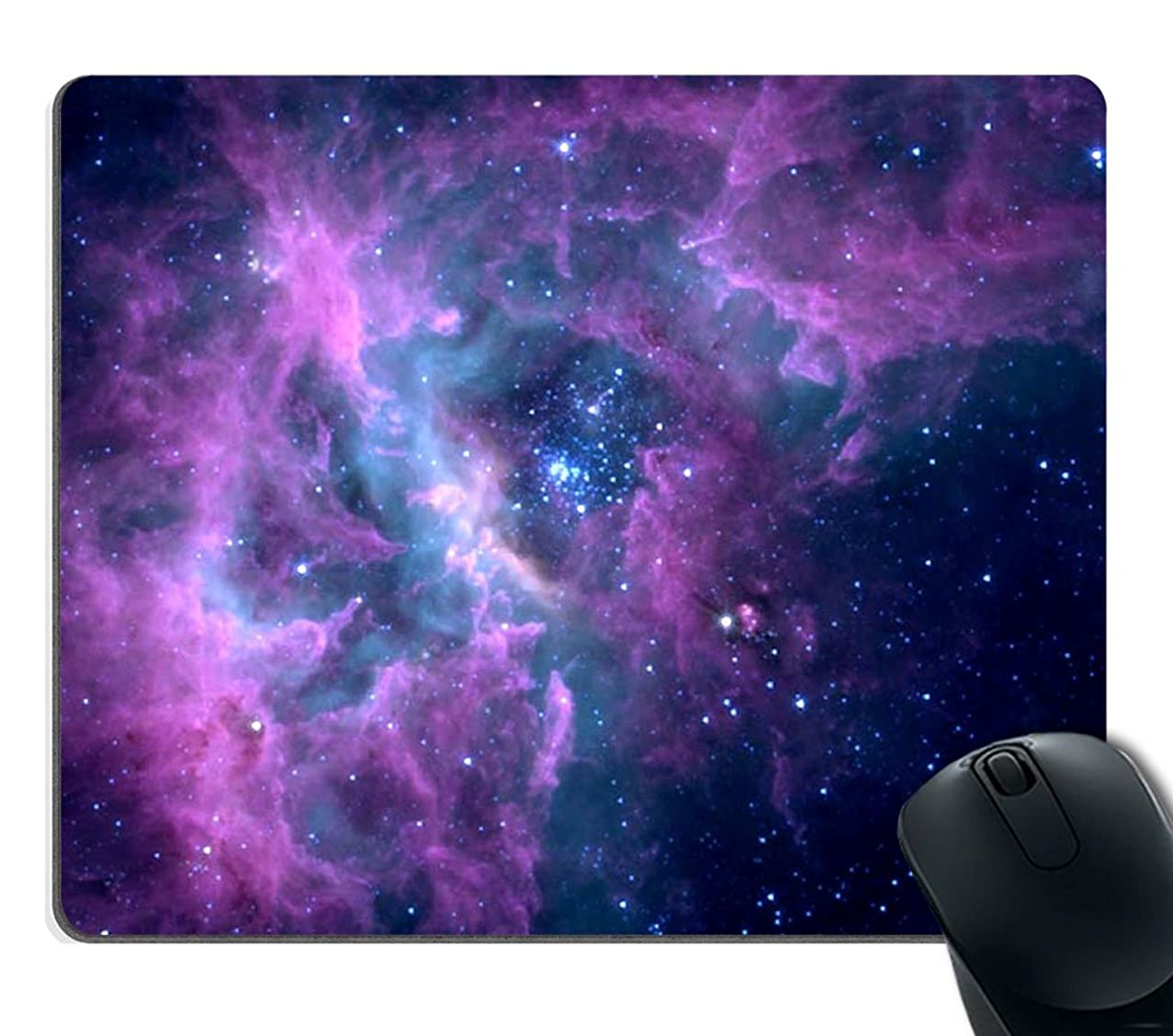Smooffly Mouse Pad Purple Galaxy Customized Rectangle Non-Slip Rubber Mousepad Gaming Mouse Pad