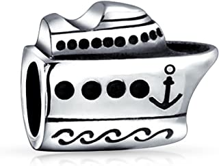 Cruise Ship Travel Yacht Boat Captain Vacation Bead Charm For Women For Teen 925 Sterling Silver Fits European Bracelet