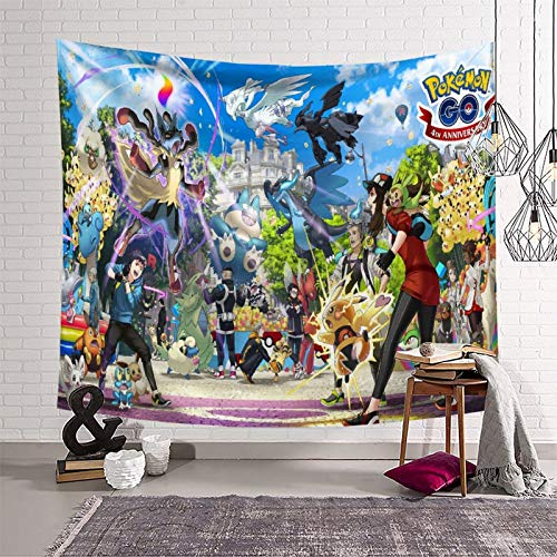SSKJTC Tapices para sala de estar Pokémon Manga Animación Manteles Tapices 180 x 230 cm