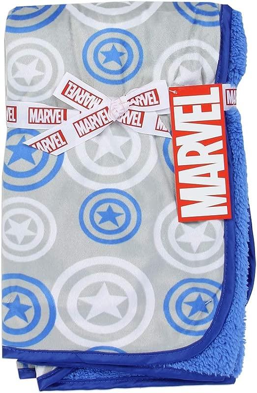 Avengers Super Soft Mink Sherpa Baby Blanket 30 Inch X 30 Inch