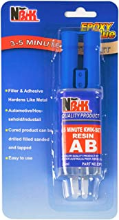 Epoxy Resin, 0.85-Fluid Ounce Metal Epoxy Adhesives, High Viscosity and Strong Epoxies Multi-Purpose Epoxy Glue Instant Repair Wood, Plastic, Glass (H-Type)
