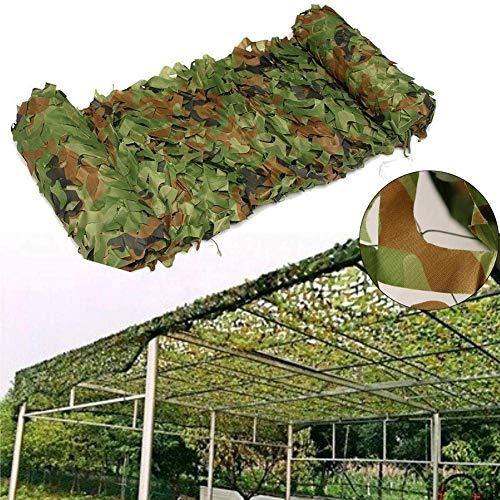 Camuflaje Red Calada Sombra pérgola paño de la Cortina Jardín Terraza de Protección Solar Militar de Camuflaje Selva Malla de Sombra Verde Grande Neta (Color : 1, Size : 6 * 10M)