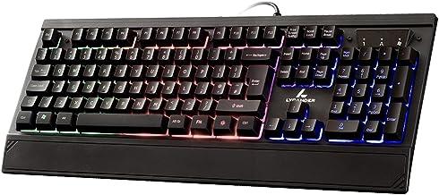 Sponsored Ad – LYCANDER Gaming Keyboard UK, Wired USB Keyboard - 19 anti-ghosting keys, 1.8m cable, rainbow backlight