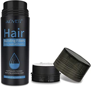 Hair Fibers for Thinning Hair (Multiple Colour) 100% Undetectable Natural Fibers - Completely Conceals Hair Loss in 15 Sec...