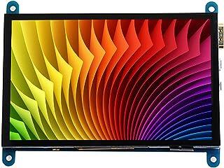 Baugger Tela de toque capacitiva HD de 5 polegadas Monitor portátil pequeno de resolução de 800 * 480 com interface USB HD...