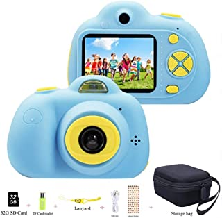 ToyZoom Kids Children Camera 18MP Selfie 1080P HD Ditital Camera for Girls Boys Birthday/Christmas/Holiday Toy Gift with 3...