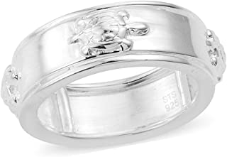 925 Sterling Silver Turtle Statement Band Ring for Women Jewelry Gift Avg. 5 g