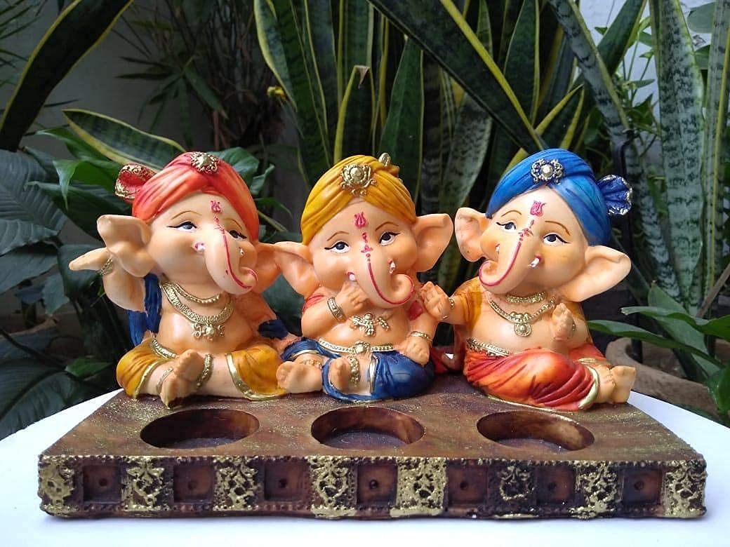 Crafting with Love A Beautiful At the price of surprise Candle Tealight Hol Three Ganesha Recommended