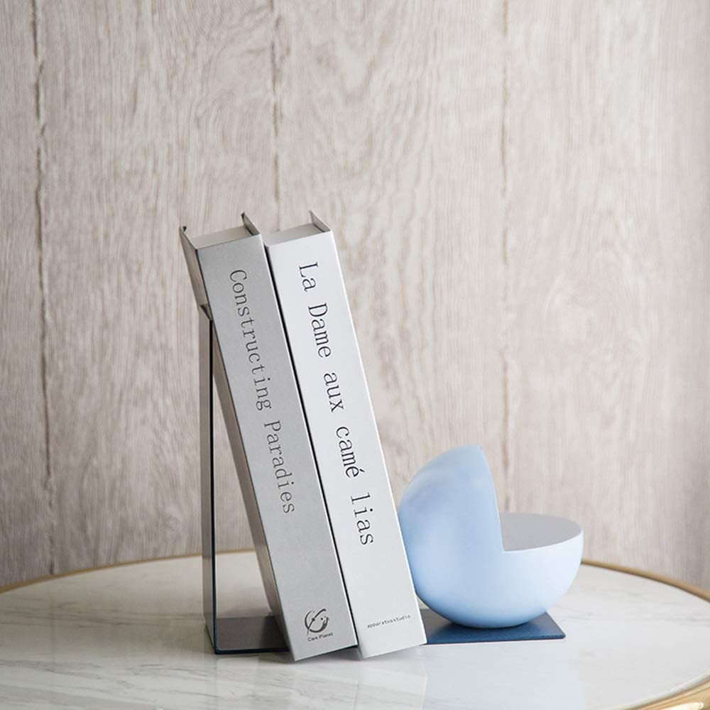JF-XUAN Bookends Creative Sky Blue Opening SALENEW very popular Outlet sale feature Book Shape Ball Smile