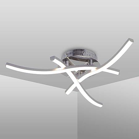 Plafonnier LED, luminaire plafonnieren forme de vague, lumière blanche neutre 4000K, LED intégrées 18W 1600Lm, lustremoderne pour le restaurant de salon de chambre coucher, 220V IP20