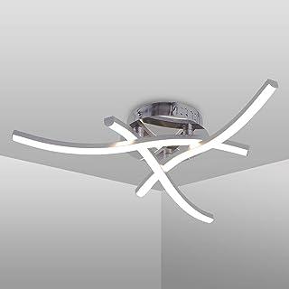 Plafonnier LED, luminaire plafonnieren forme de vague, lumière blanche neutre 4000K, LED intégrées 18W 1600Lm, lustremod...