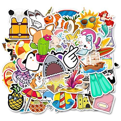 Pacchetto adesivi,100PCS adesivi moda Adesivi impermeabili per graffiti, adesivi in vinile, adesivi casuali per laptop, telefono, auto, skateboard, bi