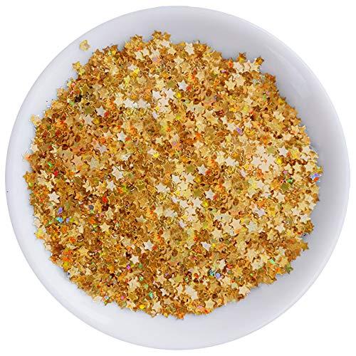 Gold Star Confetti Glitter, Hologra…