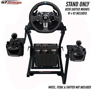 GT Omega Soporte de Volante PRO para Logitech G29 G920 Thrustmaster T500 T300 TX y TH8A Shifter Mount V1 - PS4 Xbox Fanatec Clubsport - Diseño Ajustable en inclinación para la experiencia Sim Racing