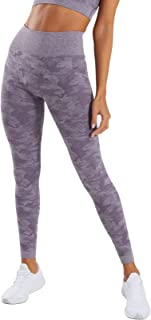 MIMIO Seamless Camo Yoga Pants for Women High Waisted Gym Sport Running Workout Leggings