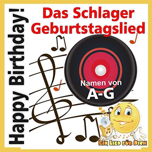 Happy Birthday ! Das Schlager Geburtstagslied für Anja