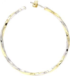 Orecchini a cerchio - Gioielli veri - Gioielli di moda - Coppia di orecchini