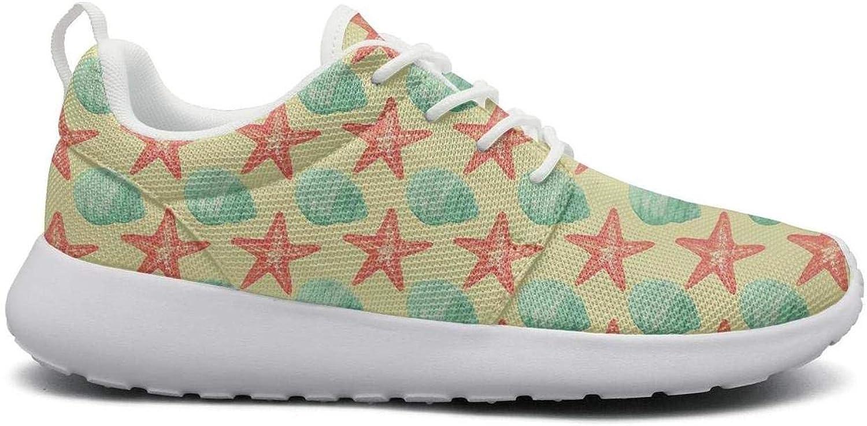 Non-Slip Sneaker Women Girls Fashion Seashell and Starfish Climbing Athletic Running shoes