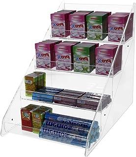 Avà srl Boîte à Bonbons en Acrylique Transparent - 4 étages - Dimensions: 26 x 35 x H34 cm