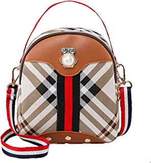 Everyday Daily Women Shoulder Bag Crossbody Bag Multicolor (Brown) Converted Backpack-New