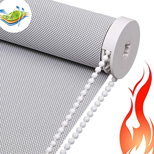 YJFENG Verdunklungsrollo Thermo Rollo Brandschutz Wasserdicht,Durchscheinend Einfach Zu Säubern Das Licht Blockieren Anti-UV Wohnzimmer Konferenzraum,Anpassbar (Color : Gray, Size : 80x200cm)