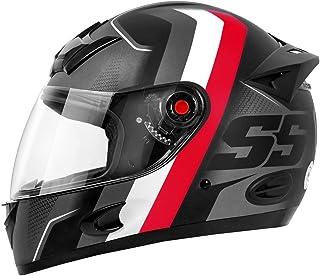 Capacete Moto Mixs MX5 Super Speed Fosco Cinza com vermelho Fosco 62
