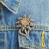 Emaille Pin Badge süße Kreative Brosche für Jacken Rucksäcke Kleidung WW2 Bundeswehr Elite Mountain Edelweiß Badge Denim Jacke Kragen Brosche Pin