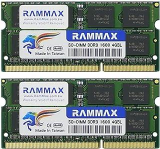 RAMMAX RM-SD1600-D8GBL ノートPC用メモリ DDR3L 1600 (PC3L-12800) 4GB×2枚 CL11 1.35V Non-ECC SO-DIMM 204pin