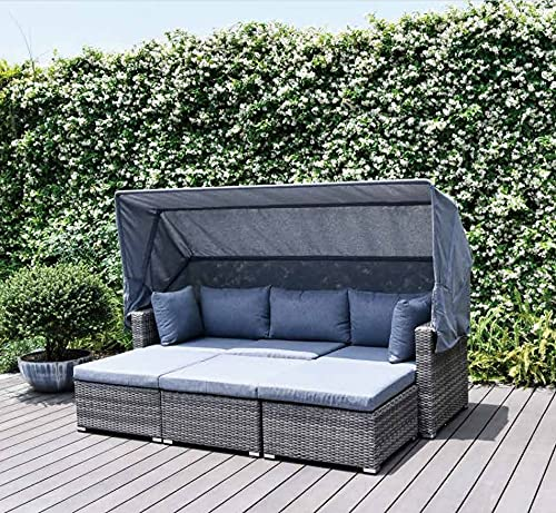 Garden Store Direct GSD Modular Multi Fuction Lounge Set - Sunlouger, Sofa, Daybed, L Shape All In One Set! Aluminium, 5 Year Warranty!