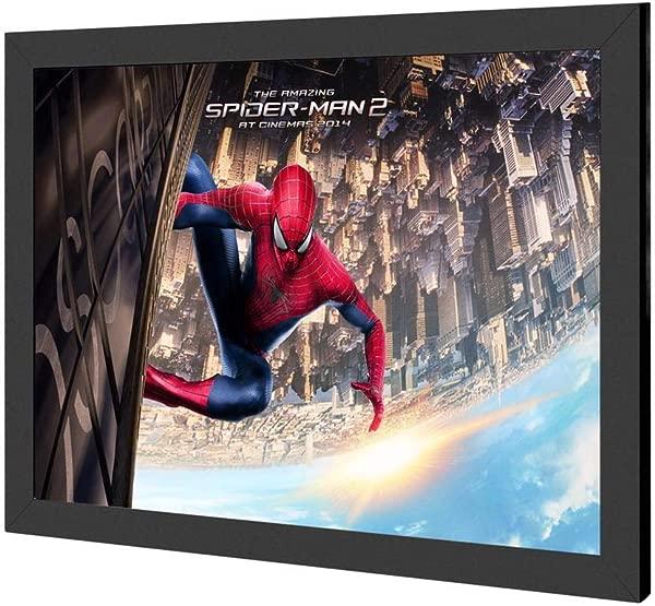 18x24 Led 背光海报框灯箱标志用铝按扣相框壁挂式广告展示黑色