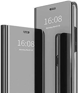 MadBee Funda iPhone SE 2020 (4,7 Pulgadas) [Protector Pantalla], Fundas de Espejo Elegante Brillante Standing Flip Carcasa...